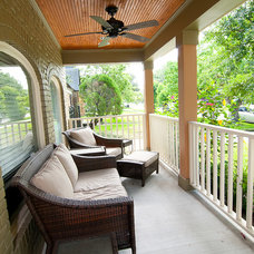 Traditional Porch by Greymark Construction Company