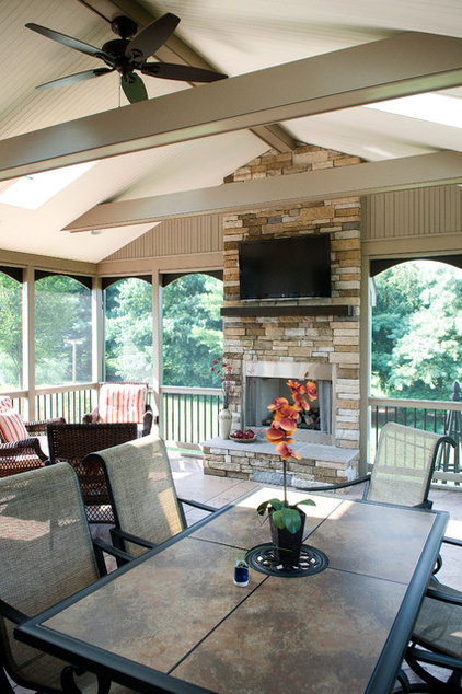 Contemporary Porch by Metzler Home Builders