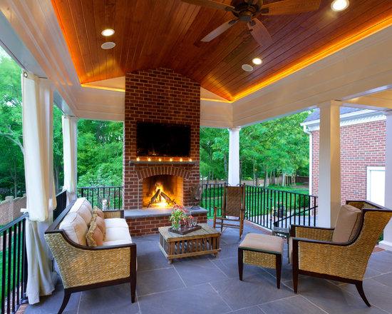 Our Best Column Uplighting Porch Ideas Designs Houzz