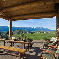 Traditional Porch by Teton Heritage Builders