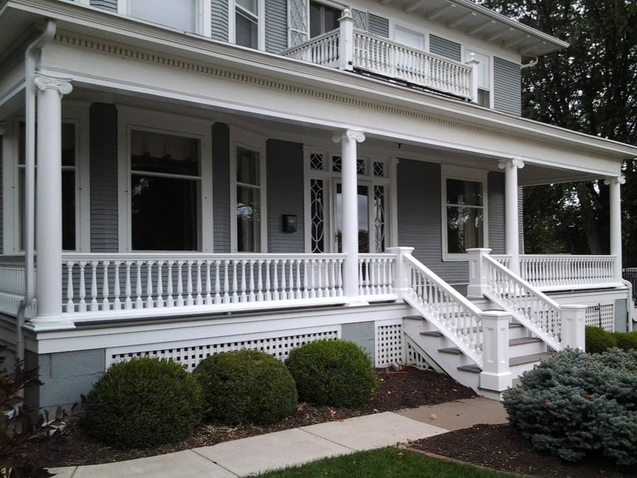 After Restoration of Classic Style Porch