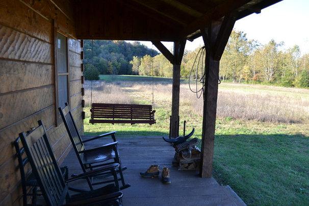 Eclectic Porch Afton Virginia Cabin