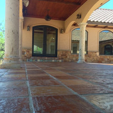 Mediterranean Porch by Rustico Tile and Stone