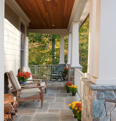 traditional porch by Richard Leggin Architects