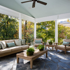 Traditional Porch by Kathleen Kellett Interiors