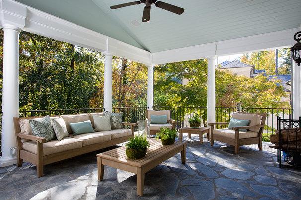 Traditional Porch by Kathleen Kellett Interiors