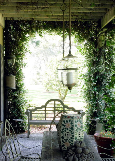 Shabby-chic Style Porch by Atlantic Archives, Inc.