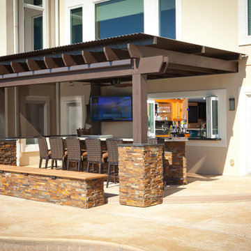 Attached Louvered Roof with Bar