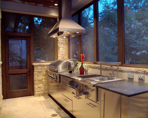 Screened outdoor kitchens houzz for Outdoor kitchen ideas houzz