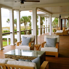 Beach Style Porch by Bill Huey + Associates