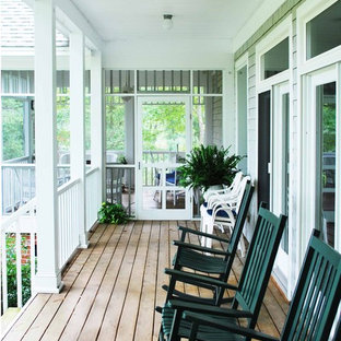 Inspiration For A Mid Sized Timeless Screened In Front Porch Remodel Richmond With