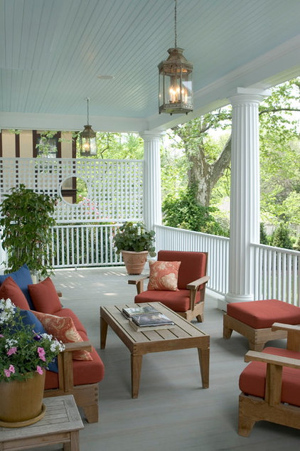 Traditional Porch by Lasley Brahaney Architecture + Construction