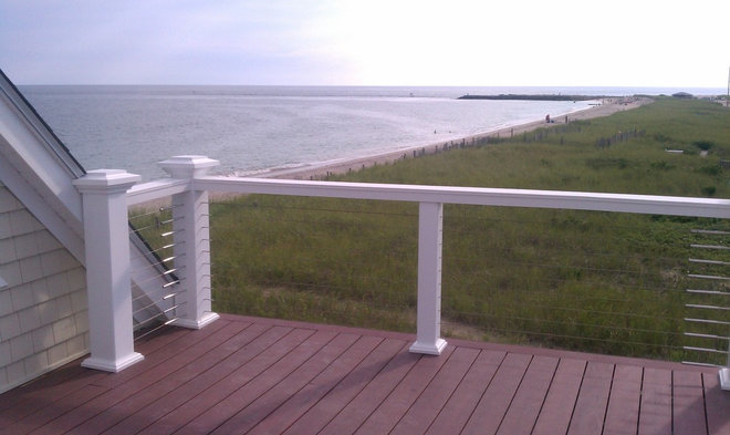 Modern Porch by Stainless Cable Railing