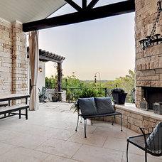 Contemporary Porch by John Cameron Custom Homes