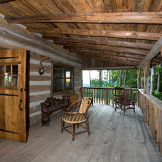Traditional Porch by Country Mountain Homes Llc