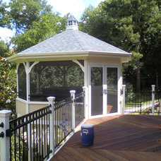 Mediterranean Porch by Weatherford Construction Company