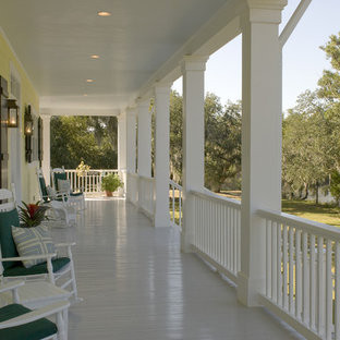 This is an example of a traditional back porch design in New Orleans.