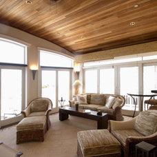 Beach Style Porch by Bruce Palmer Interior Design