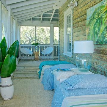 Beach Style Porch