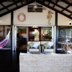 tropical porch Bedarra Beach House after renovations have finished