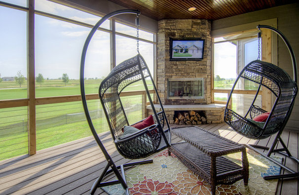 Eclectic Porch by Bella Homes