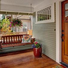 Craftsman Porch by Kathryn Tegreene Interior Design