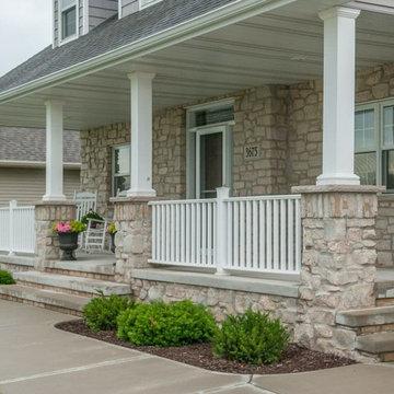 Bellevue Thin Stone Veneer Craftsman Front Porch