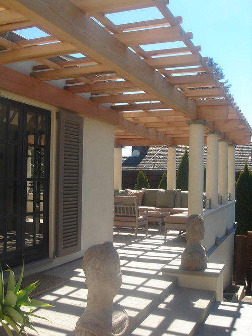 Wall-mounted Pergola Photos - Wall-Mounted Pergola Design Ideas & Remodel Pictures Houzz