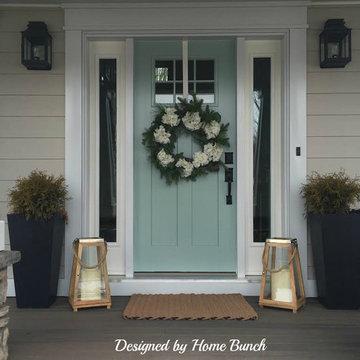 Benjamin Moore Wythe Blue HC-143 Front Door