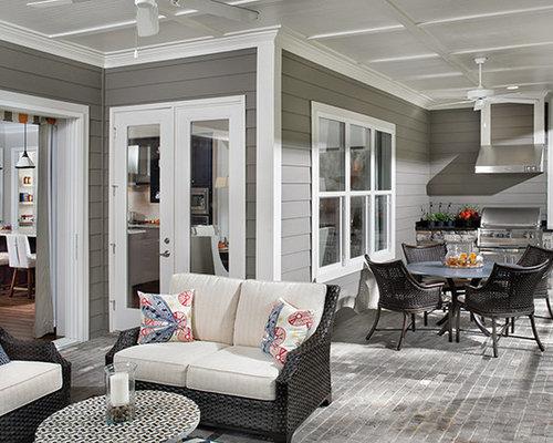 80 fotos geräumige veranda mit outdoor küche