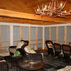 Ranch Rustic Porch Houston By Thompson Custom Homes