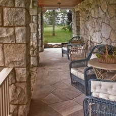 Traditional Porch by Giambastiani Design