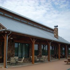 Traditional Porch by Texas Timber Frames