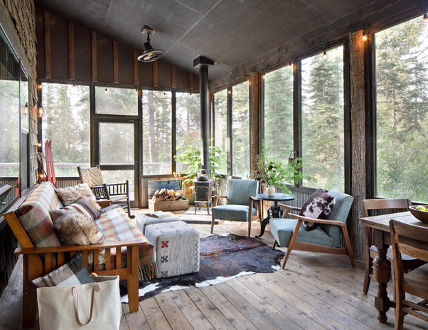 Rustic Porch by Denman Construction
