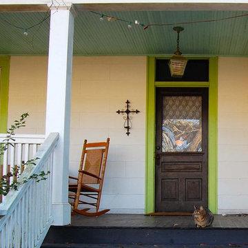 Blue Porch in Athens, Georgia
