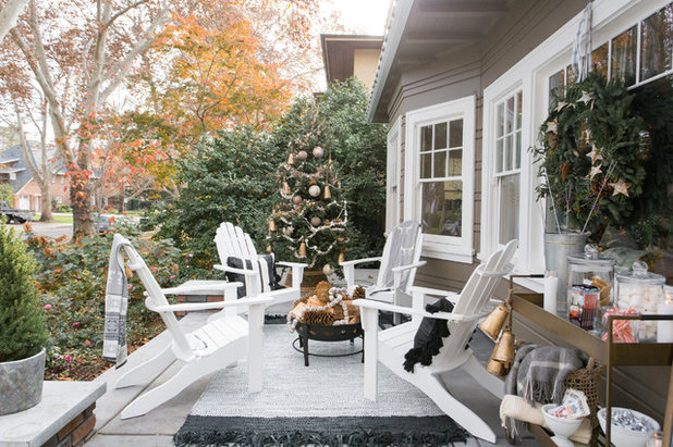 Transitional Porch by Design Shop Interiors