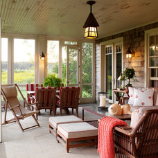 Traditional Porch by David Scott Interiors