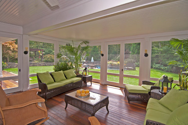 Traditional Porch by S.M. CONTRACTING INC