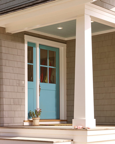 Transitional Porch by Knickerbocker Group