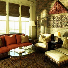 Traditional Porch by Leslie Newpher Interiors