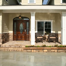 Traditional Porch by H&S Cabinets and Construction inc.