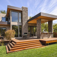 Contemporary Porch by CleverHomes presented by Toby Long Design