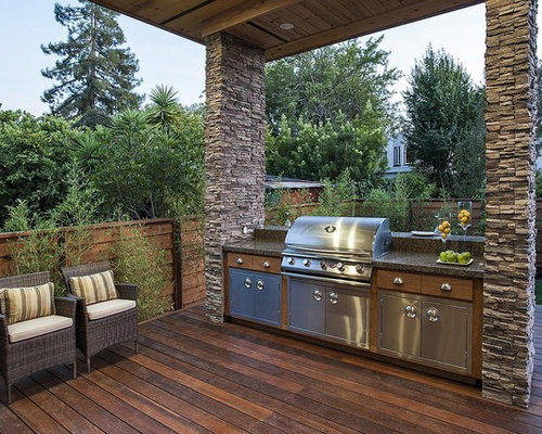 Covered Barbeque Grill Area Design Ideas & Remodel Pictures | Houzz