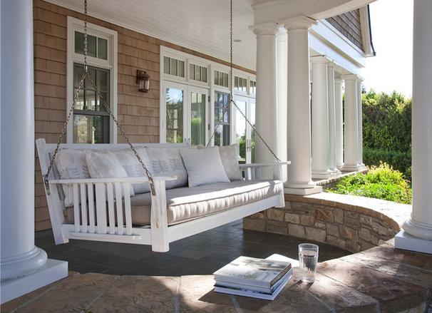 Traditional Porch by Lori Gentile Interior Design