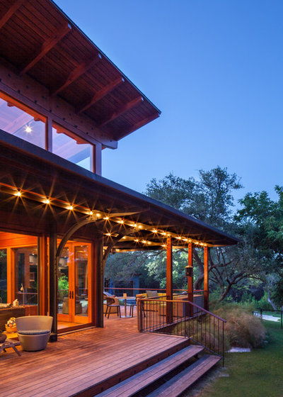 Rustic Porch by Ryan Street & Associates