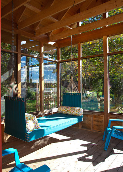 Rustic Sunroom by Knight Associates