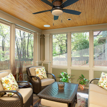 Campbell Craftsman screened porch