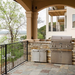 mediterranean porch by SILVERTON CUSTOM HOMES