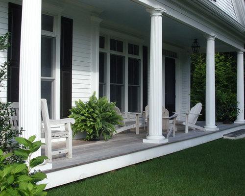 Long Front Porch Home Design Ideas Renovations Photos