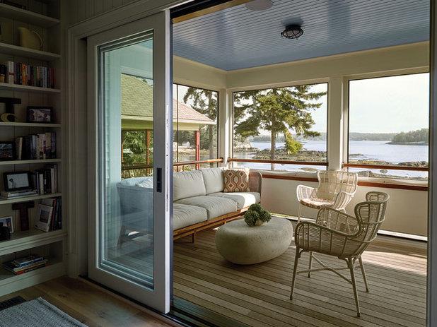 Beach Style Porch by Knickerbocker Group
